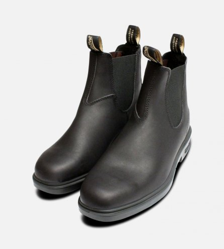 Square Toe Black Mens Blundstone Chelsea Boots