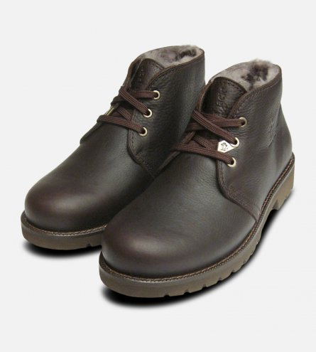 Mr. Panama Jack Igloo Fur Lined Mens Dark Brown Boots