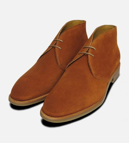 John White Westbury 4 Mens Rust Suede Chukka Boots