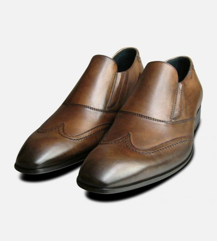 Matrix Loafers in Brown by Exceed Shoes