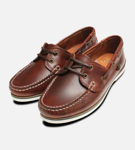 Barbour Brown Waxy Mahogany Bowline Boat Shoes
