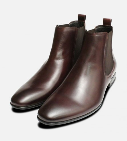 John White Formal Brown Chelsea Boot with Rubber Sole