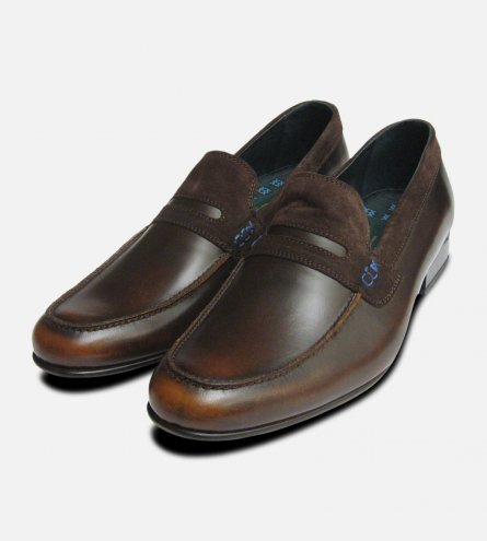 Vanquish Designer Loafers in Antique Brown by Exceed Shoes