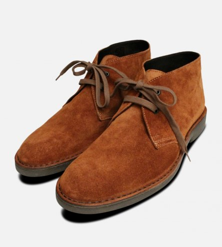 Rich Whiskey Suede Mens Desert Boots