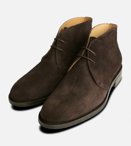 Dark Brown Suede Westbury 5 John White Mens Boots