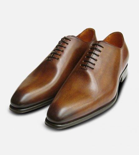Wholecut Designer Brown Mens Shoes