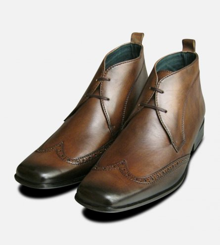 Wingcap Exceed Mens Brown Chukka Boots
