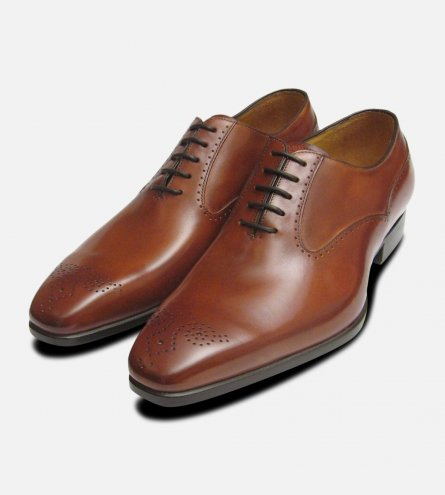 Santiago Carlos Santos Mens Shoes in Antique Tan