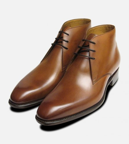 Royal Mahogany Chukka Boots Carlos Santos Shoes