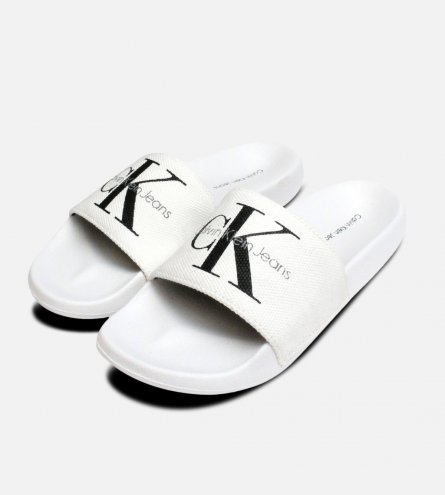 White Ladies Calvin Klein Chantal Canvas Sandals
