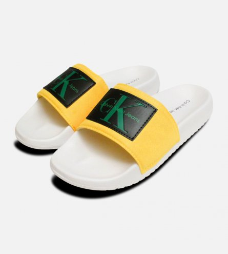 Accent Yellow Calvin Klein Chloe Nylon Slides