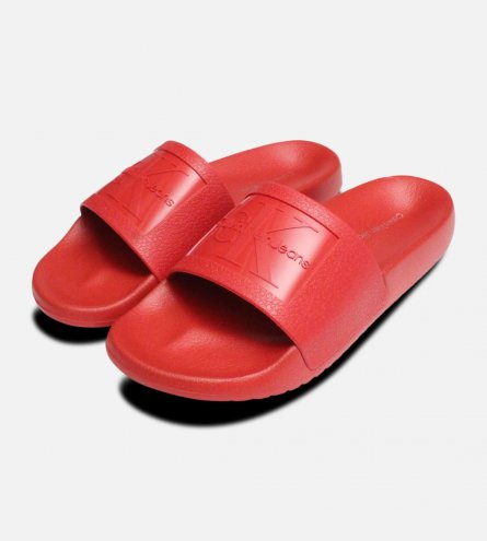 Dark Red Jelly Calvin Klein Sandals Christie Slider