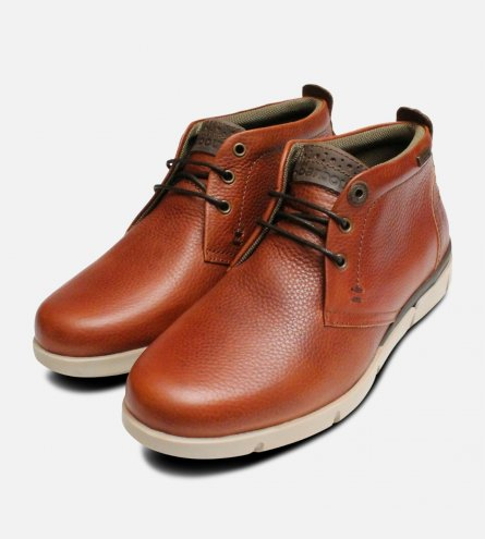 Tumble Grain Casual Mens Cognac Barbour Boots