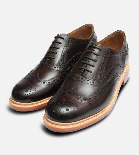 Luxury Chapman Oxford Brogues in Dark Brown