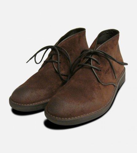 Waxy Brown Mens Designer Desert Boots
