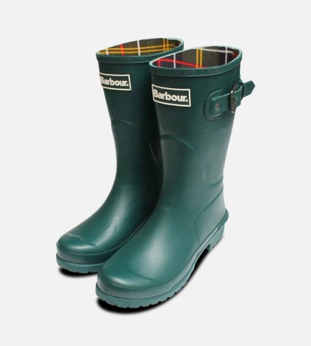 Dark Evergreen Barbour Short Primrose Welly Boot