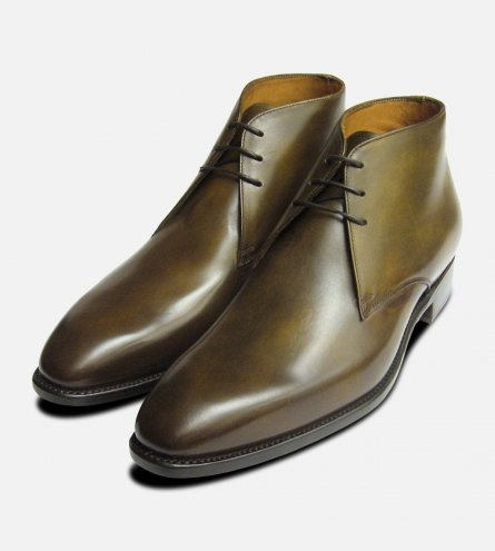 Royal Forest Green Chukka Boots Carlos Santos Shoes