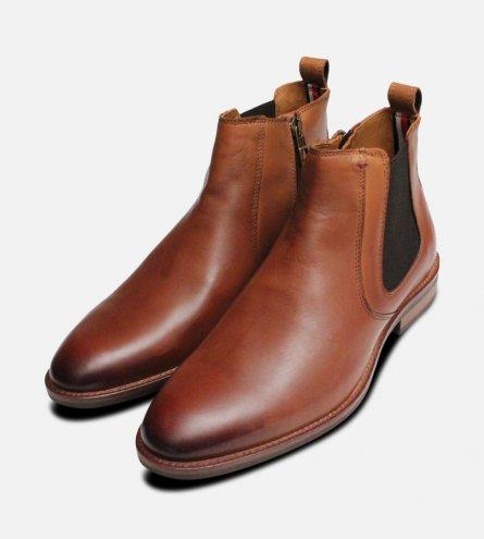 Tommy Hilfiger Chelsea Boots Light Brown Daytona
