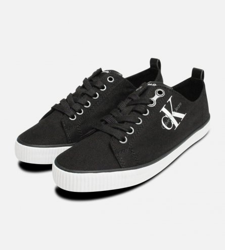 Black Dora Canvas Sneakers by Calvin Klein Jeans