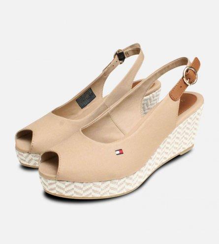 Tommy Hilfiger Elba Desert Sand Wedge Sandals