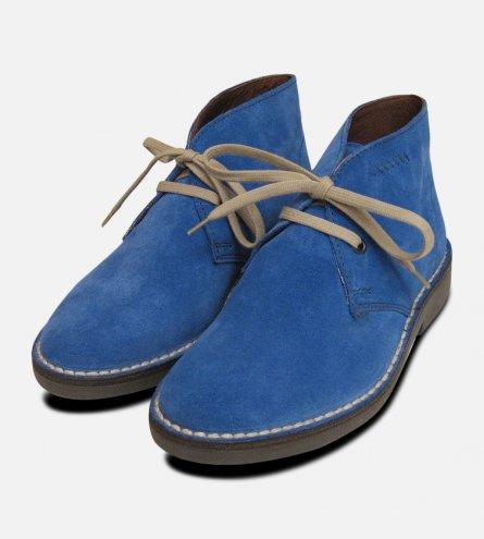 Ladies Blue Suede Italian Arthur Knight Desert Boots
