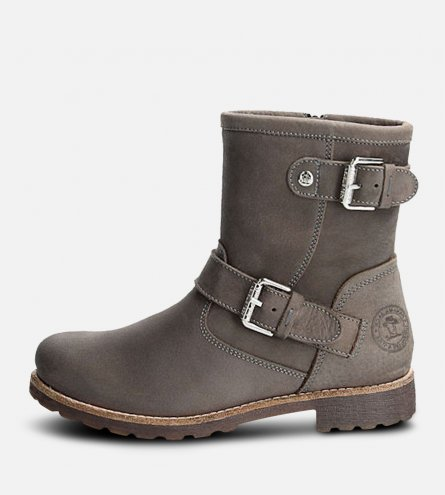 Panama Jack Igloo Fur Felina Buckle Boots in Grey