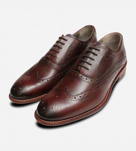 Oliver Sweeney Fellbeck Mens Oxford Brogues in Chestnut