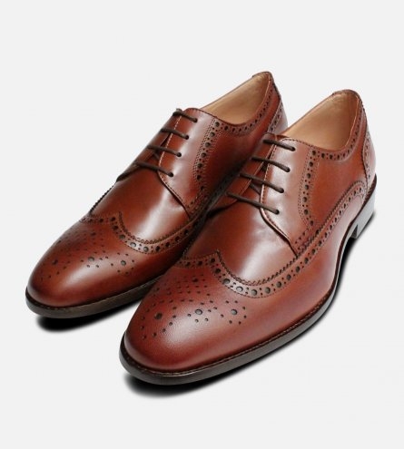 Kidskin Brown Wingcap Brogues by Anatomic Prime