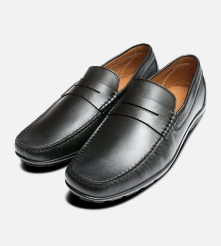 Luxury Black Italian Moccasins by Arthur Knight Shoes