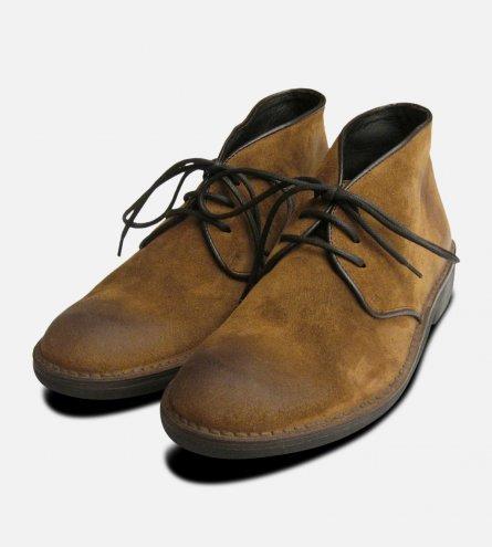 Waxy Tobacco Italian Mens Designer Boots