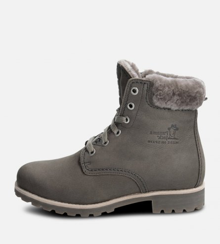 Panama Jack 03 Grey Igloo Fur Lined Lace Up Boot