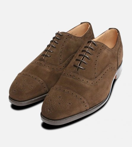 Kensington Brown Suede Trickers Brogues