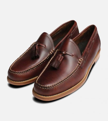 Waxy Brown Tassel Loafers by Bass Weejuns