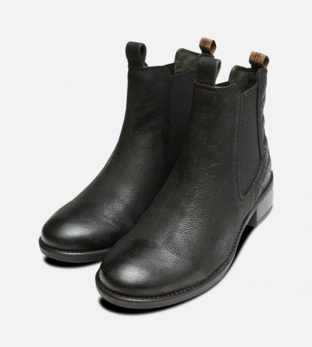 Matt Black Ladies Latimer Chelsea Boots by Barbour