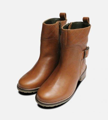 New Barbour Ladies Lambeth Quilt Zip Boots in Tan
