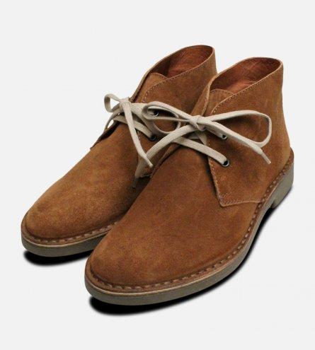 Peru Brown Suede Womens Italian Desert Boots