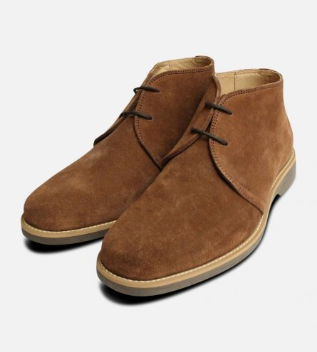 Tobacco Suede Anatomic & Co Chukka Boot