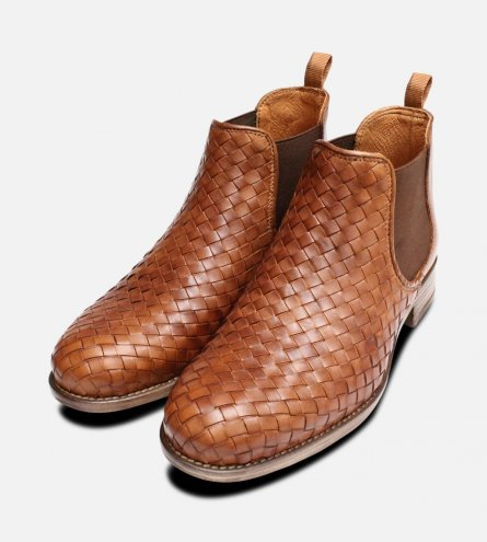 Brown Weave Ladies Demi Chelsea Boots