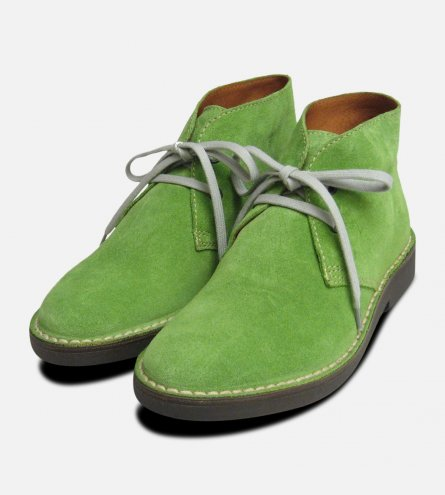 Lime Green Suede Italian Arthur Knight Desert Boots