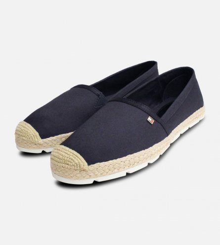 Ladies Tommy Hilfiger Lisas Navy Blue Espadrilles