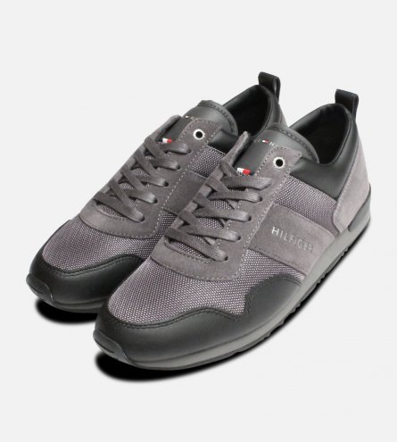 Tommy Hilfiger Maxwell Trainers in Black & Grey