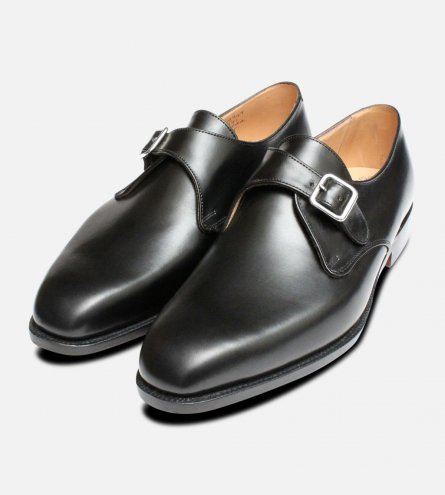 Mayfair Black Buckle Monk Trickers Shoes