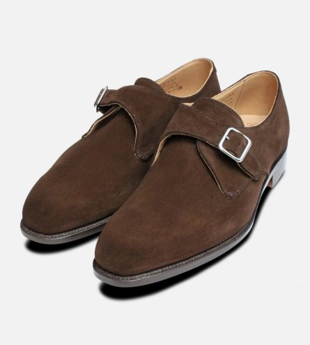 Mayfair Chocolate Suede Trickers Monk