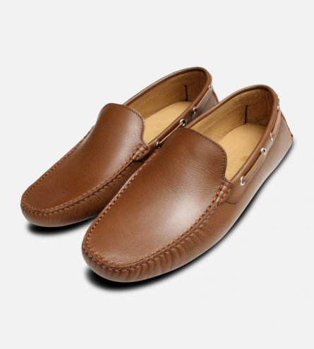Vitello Brown Italian Mens Arthur Knight Moccasins