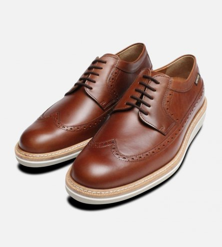 Mephisto Enrico Wedge Shoes in Chestnut Brown