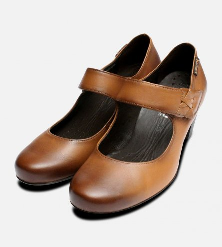 Mephisto Madisson Ladies Shoes in Hazelnut Brown
