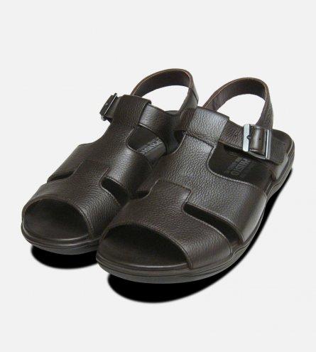 Sacco Mephisto Mens Dark Brown Sandals