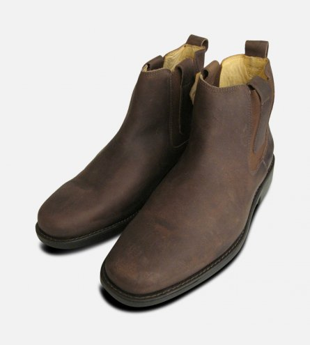 Anatomic Shoes Brown Waxy Chelsea Boots