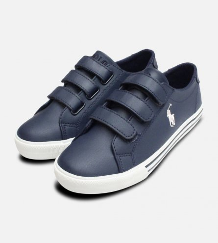 Navy Blue Ralph Lauren Slater EZ Childrens Shoes