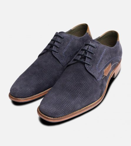 Blue Suede Shoes for Men by Bugatti